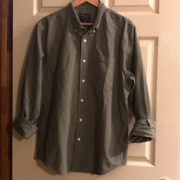 Abercrombie & Fitch Other - Abercrombie & Fitch army green button down. XXL